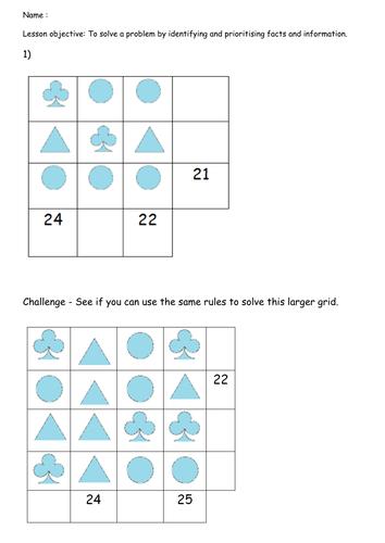 Problem Solving Shape Puzzles Ks2 By Beccaheathcote123 border=