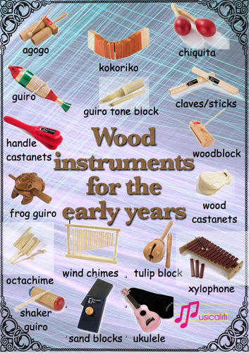 Wooden instruments for the early years
