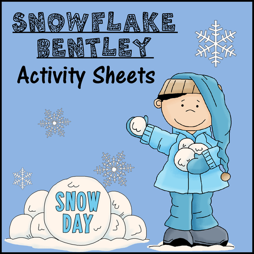 Snowflake Bentley Activity Sheets Print Go by WindupTeacher – Snowflake Bentley Worksheets