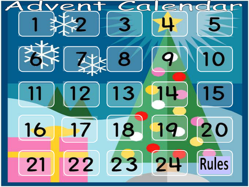 Advent Calendar Art Lesson : Evaszucs s shop teaching resources tes