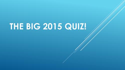 The Big End of 2015 Christmas Quiz!
