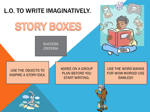 Story Boxes creative writing task