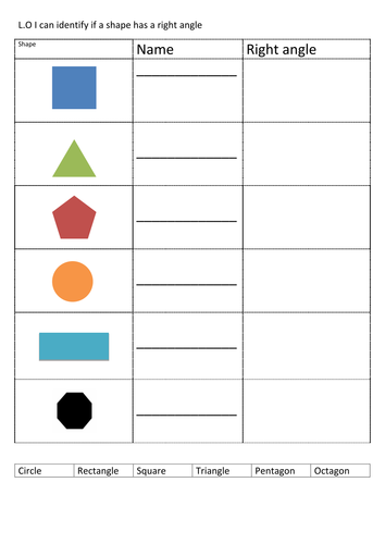 Right Angle Shapes : D shape right angles by tanyalefort teaching resources