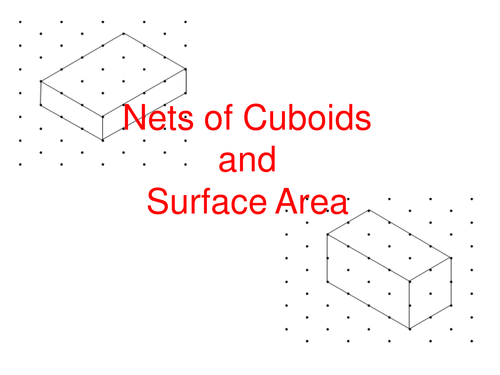 Nets of cuboids and surface area (lesson and worksheet)