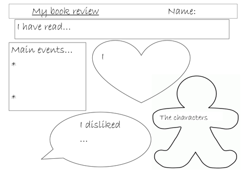book review template sheet by misstallulah Teaching Resources TES – Book Review Template