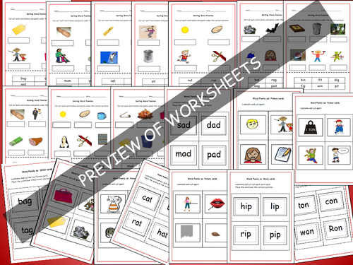 Phonics 1 21 Onset Rime Word Families PowerPoint Presentations – Onset and Rime Worksheets