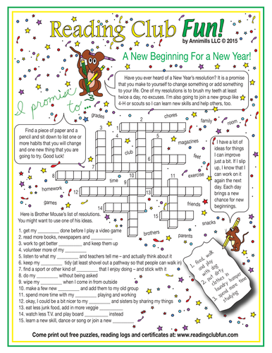 Satisfactory image for new year crossword puzzle printable