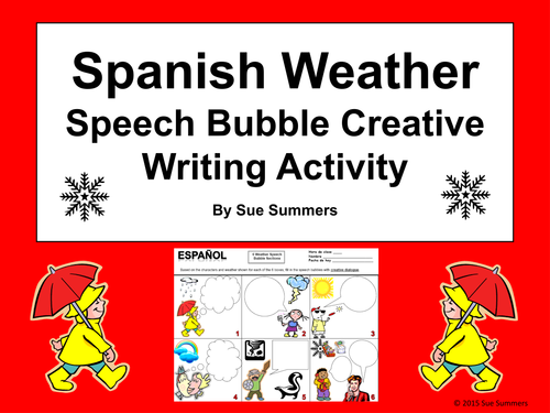 Writing activity about weather forecast