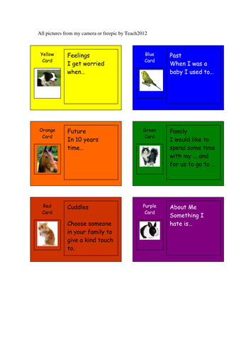 Family Game for Home workers family therapists nurseries etc