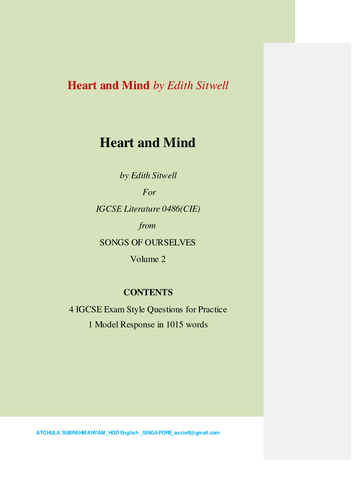 Heart and Mind  by Edith Sitwell