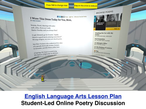 Having Student-Led Online Poetry Discussions in a 3D World