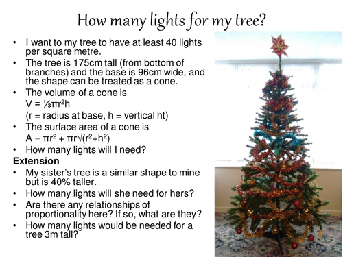 How many lights for my tree?