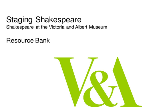 Staging Shakespeare: Costume Design