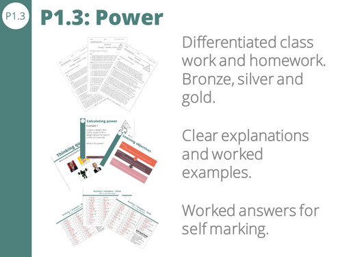 P1.3 Power calculations - Watts, joules and seconds