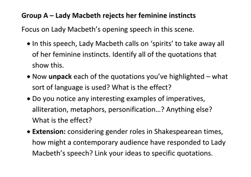 lady macbeth act scene by slinds teaching resources tes
