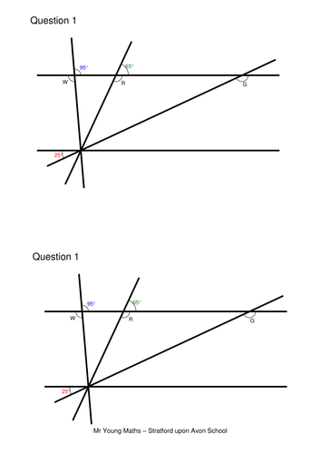 Angles and parallel lines (codebreaker)