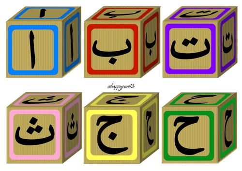 Arabic Alphabet Blocks_Display_Flashcards