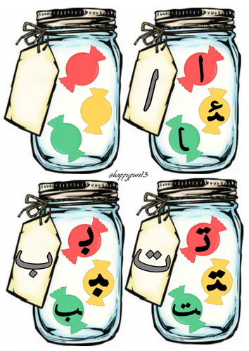 Arabic Alphabet Sweet Jars_All Letter Forms