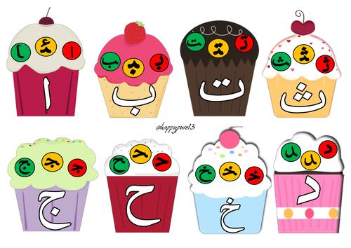 Arabic Alphabet Cupcakes_All Forms