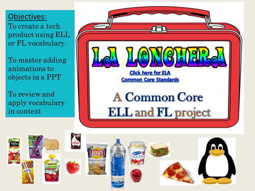 "Ed Tech Tutorial, bilingual and hands-on ""La Lonchera"" or ""The Lunchbox"""