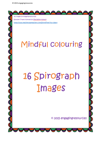 Mindful Colouring - Maths, Art or Tutor time activity