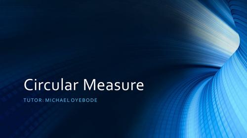 Circular Measure - Engineering Maths