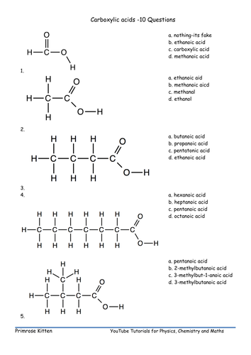 Naming Carboxylic acids. Inc. Edpuzzle link