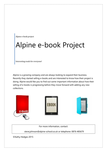 Alpine ICT Project  (ICT FS or ICT GCSE)
