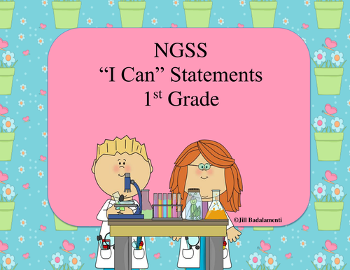 I Can Statements for 1st Grade NGSS