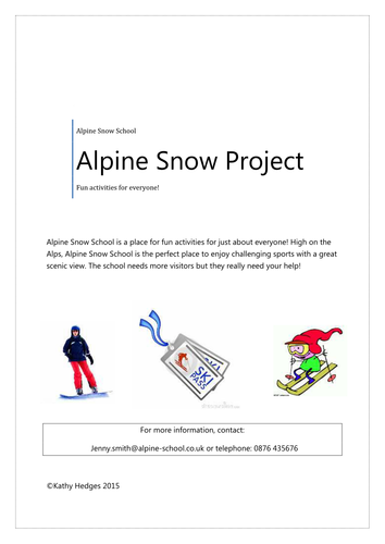 Alpine Snow School Project - ICT FS or ICT GCSE