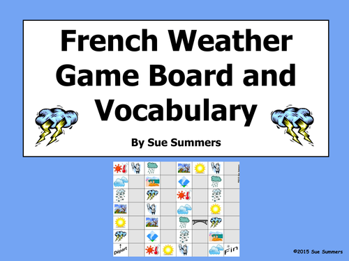 French Weather and Climate Board Game and Vocabulary by ...