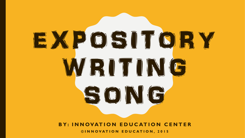 Expository Writing Song