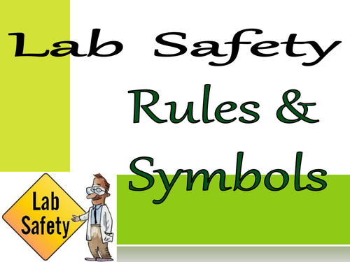 Lab Safety Science S6CS2 by rjwilliams65 Teaching Resources TES – Lab Safety Symbols Worksheet
