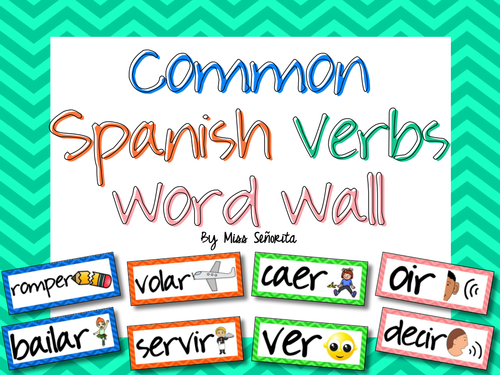 Spanish Common Verbs Word Wall