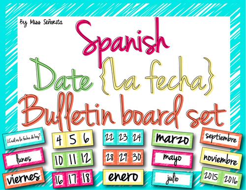 Spanish Date {La Fecha} Word Wall & Bulletin Board Set