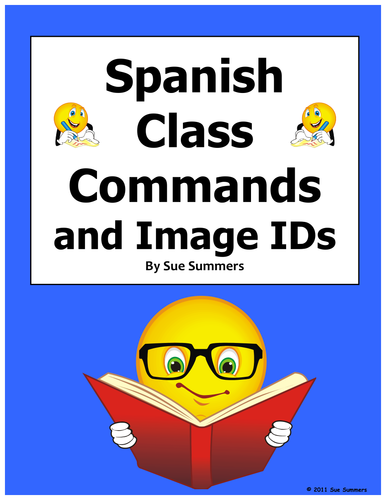 Spanish Class Commands Word Search and Vocabulary - Substitute Lesson
