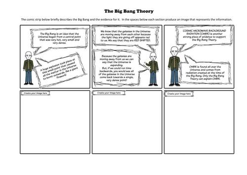 The Big Bang comic strip and newspaper activity