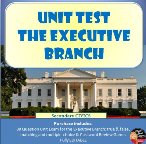 Executive Branch Of State Government By 60SecondCivics