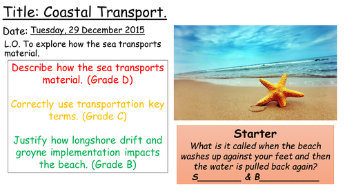AQA A Coasts ' Transportation' Lesson 3
