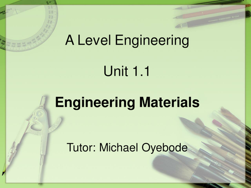 Engineering Materials - A Level Engineering