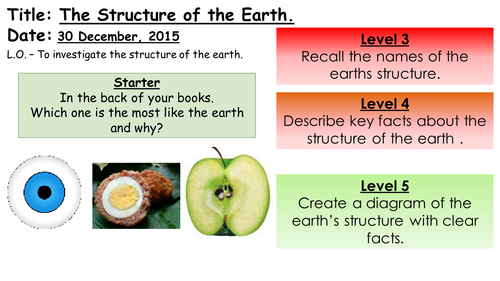 Structure of the Earth Lesson 1