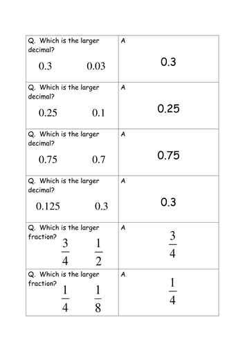 Printables Comparing Fractions And Decimals Worksheet comparing fractions decimals and percentages by salsamaths teaching resources tes