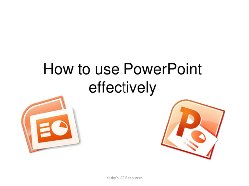 How to use PowerPoint effectively (KS2 Primary and Secondary)