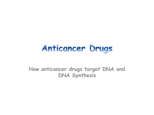 Anticancer Agents- Chemistry/Biology resource
