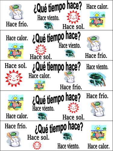 Primary Spanish resources: weather