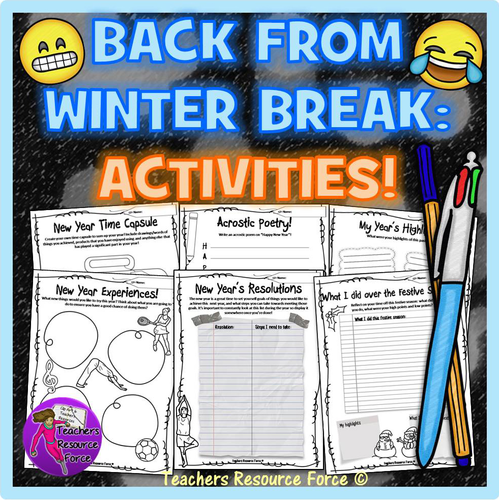 Back from Christmas Break: New Year Activities