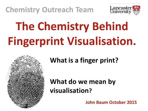 fingerprint activity: dusting and superglue visualisation