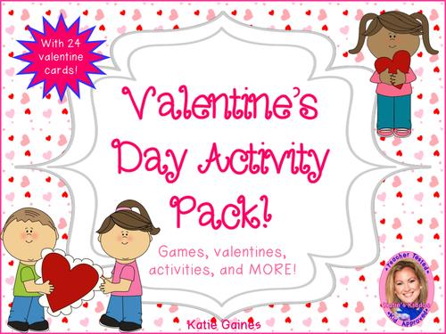 UK Valentine's Day Activity Pack!