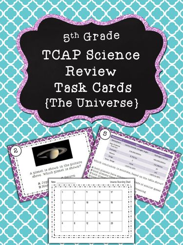 TN TCAP Prep 5th Grade Science Task Cards ~ Earth and Space Science Bundle