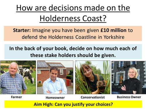How are decisions made at the Holderness Coast?